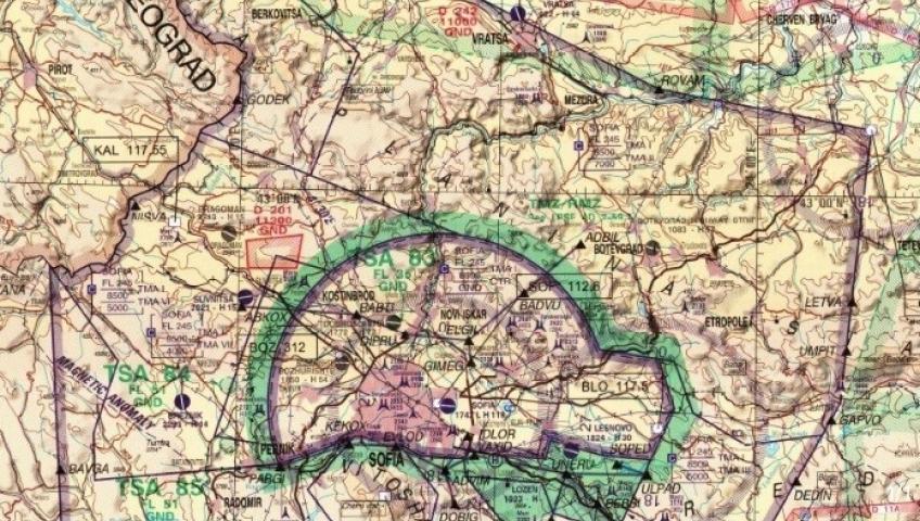 Аеронавигационна карта 1: 500 000 има ново издание